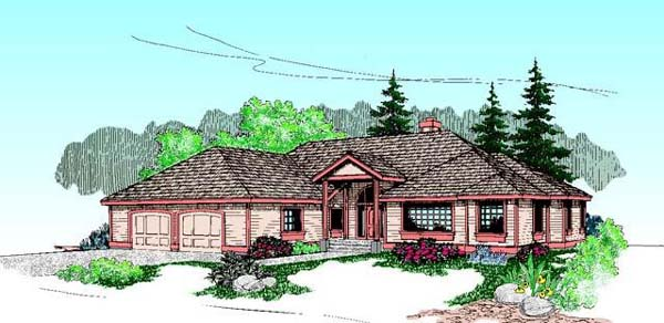 Traditional House Plan 99778 Elevation