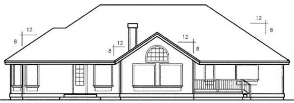 Traditional House Plan 99778 Rear Elevation