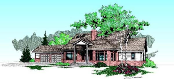 Colonial Traditional House Plan 99779 Elevation