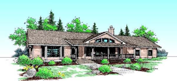Ranch House Plan 99780 Elevation