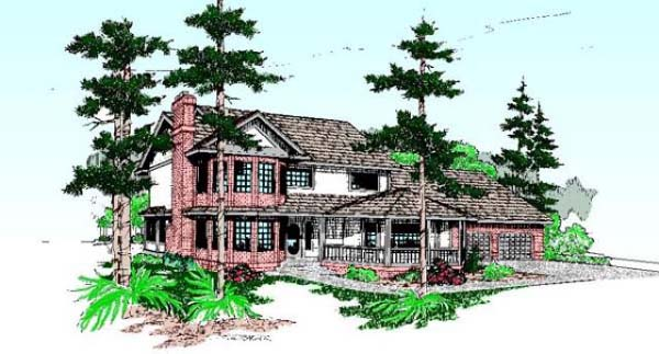 Country Farmhouse House Plan 99782 Elevation