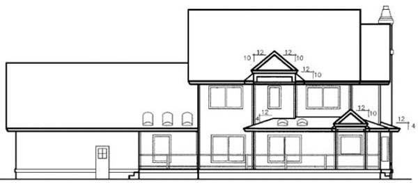 Country Farmhouse House Plan 99782 Rear Elevation