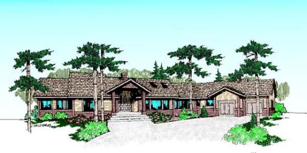 Ranch House Plan 99784 Elevation