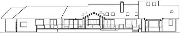 Ranch House Plan 99784 Rear Elevation