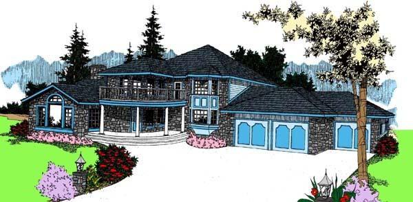 Bungalow Tudor House Plan 99794 Elevation