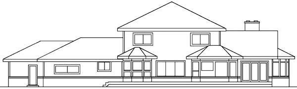 Bungalow Tudor House Plan 99794 Rear Elevation
