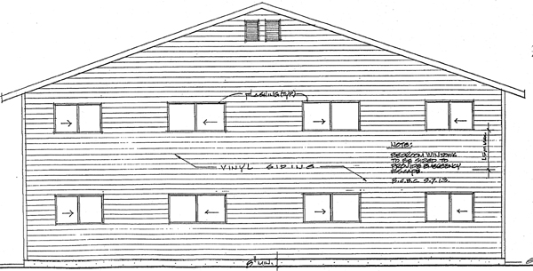 Traditional Multi-Family Plan 99902 Rear Elevation