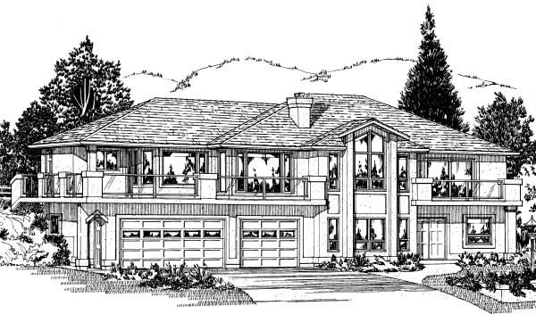 Southwest House Plan 99906 Elevation