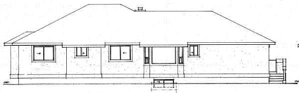 Southwest House Plan 99906 Rear Elevation