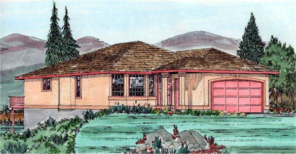 Southwest House Plan 99908 Elevation