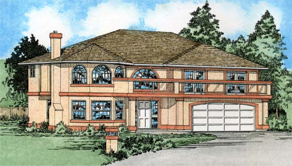 European, Southwest House Plan 99912 with 3 Beds, 3 Baths, 2 Car Garage Elevation