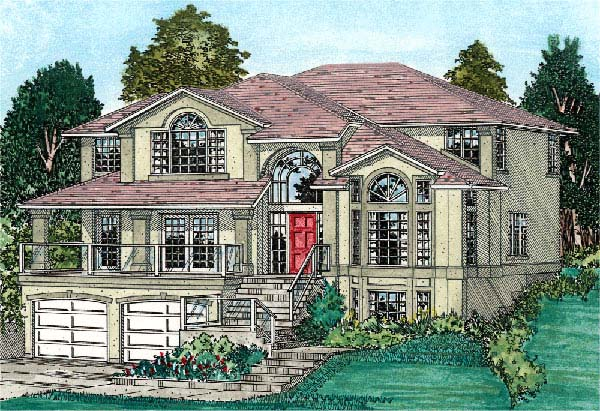 Southwest House Plan 99915 with 5 Beds, 3 Baths, 2 Car Garage Elevation