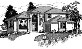 Southwest House Plan 99916 Elevation