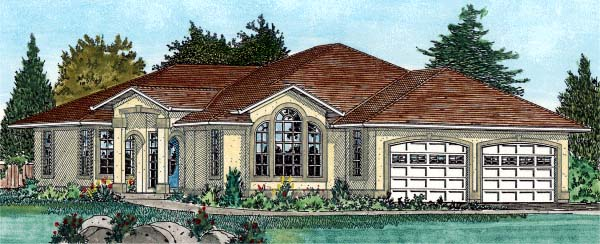 European Southwest House Plan 99918 Elevation