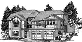 European , Traditional House Plan 99920 with 3 Beds, 3 Baths, 2 Car Garage Elevation