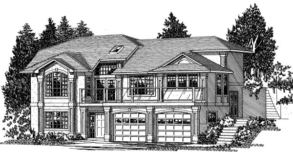 European Traditional House Plan 99920 Elevation