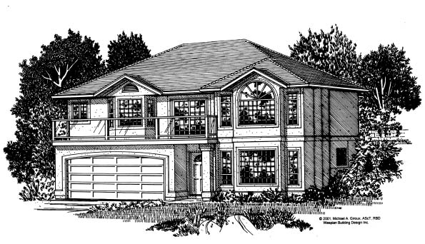 European Traditional House Plan 99921 Elevation
