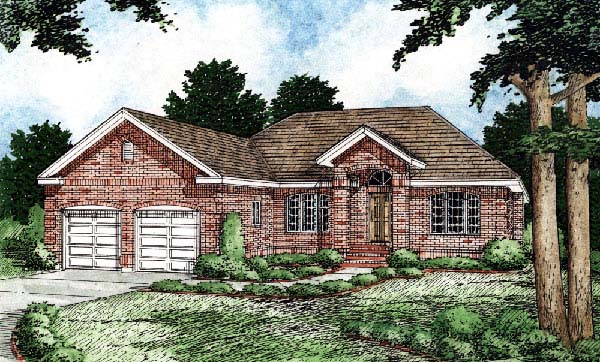 European Traditional House Plan 99922 Elevation