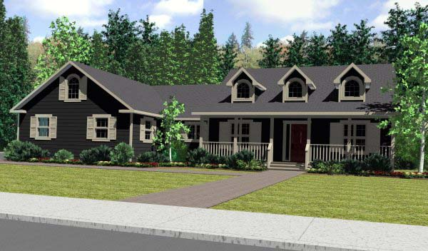 Cape Cod Country Southern House Plan 99923 Elevation