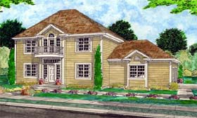 Colonial House Plan 99925 Elevation