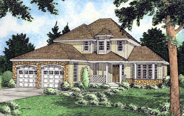 Bungalow , European , Elevation of Plan 99929