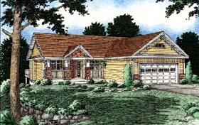 Ranch House Plan 99930 with 3 Beds, 2 Baths, 2 Car Garage Elevation