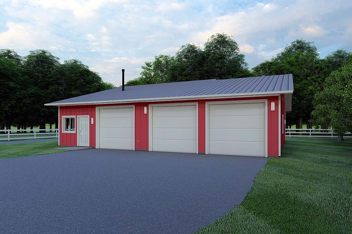3 Car Garage Plan 99933 Front Elevation