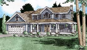 Country House Plan 99935 with 4 Beds, 3 Baths, 2 Car Garage Elevation