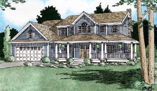 Country House Plan 99935 Elevation