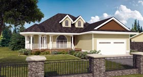 House Plan 99936 with 3 Beds, 2 Baths, 2 Car Garage Elevation