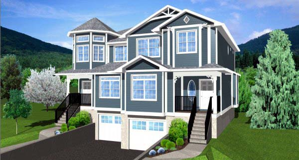 Victorian Multi-Family Plan 99937 Elevation