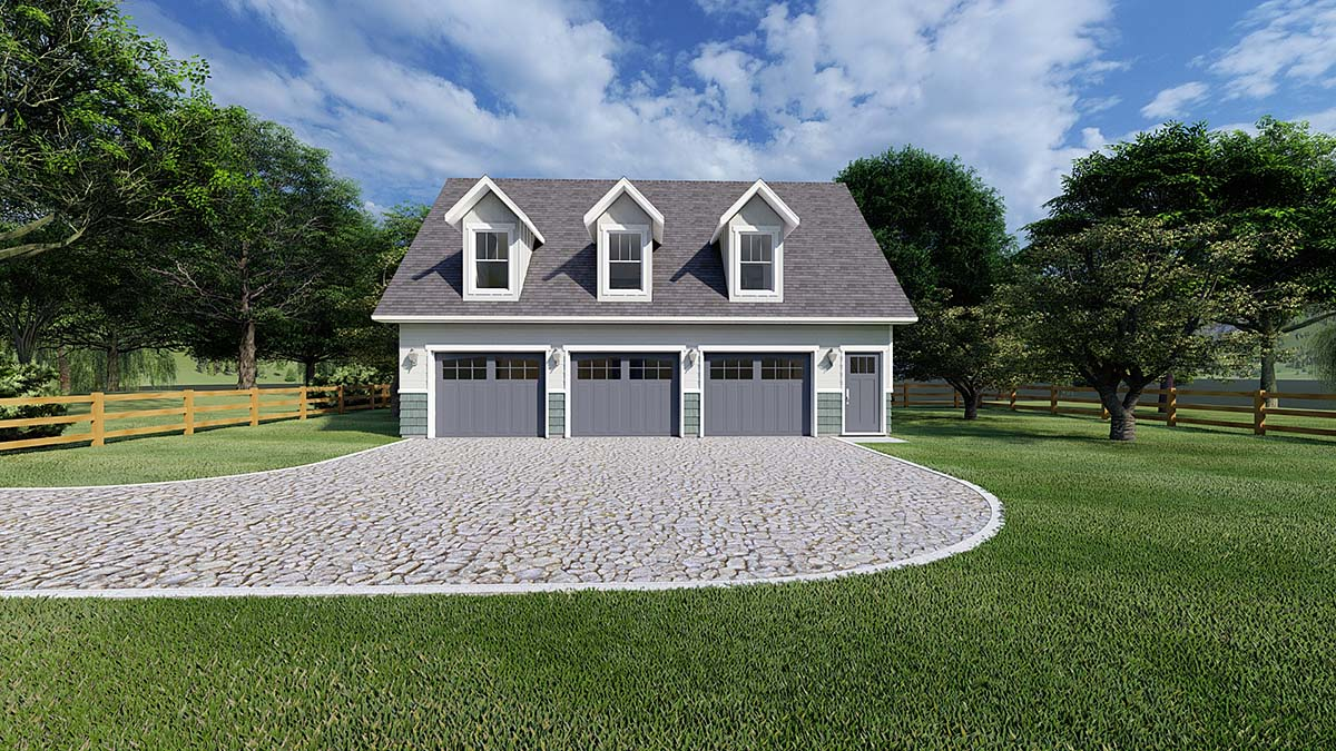 Garage Plan 99939 Elevation
