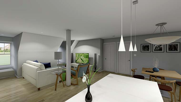 3 Car Garage Apartment Plan 99939 with 2 Beds, 2 Baths Picture 5
