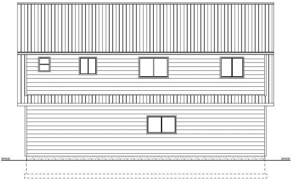 Garage Plan 99939 Rear Elevation