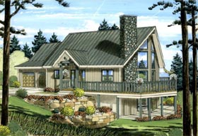 A-Frame House Plan 99943 Elevation
