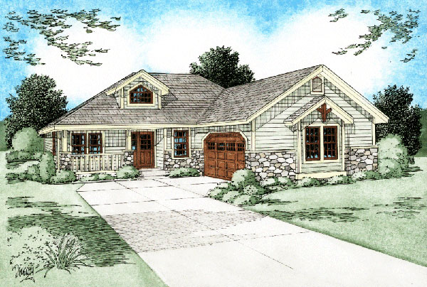 Bungalow Craftsman House Plan 99944 Elevation