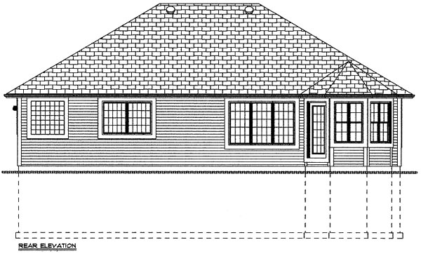 Bungalow Craftsman House Plan 99944 Rear Elevation