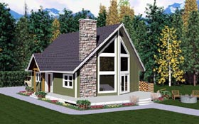 A-Frame House Plan 99946 Elevation
