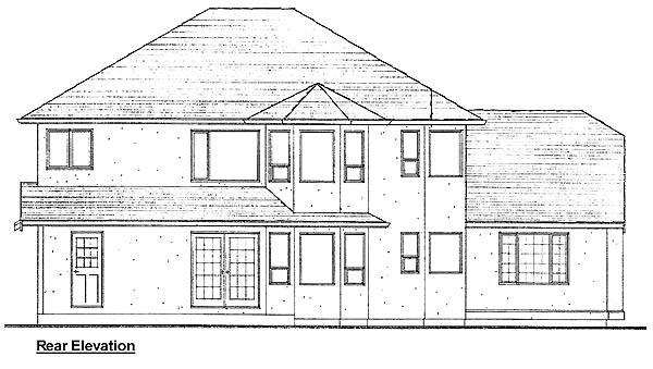 Florida Mediterranean House Plan 99947 Rear Elevation