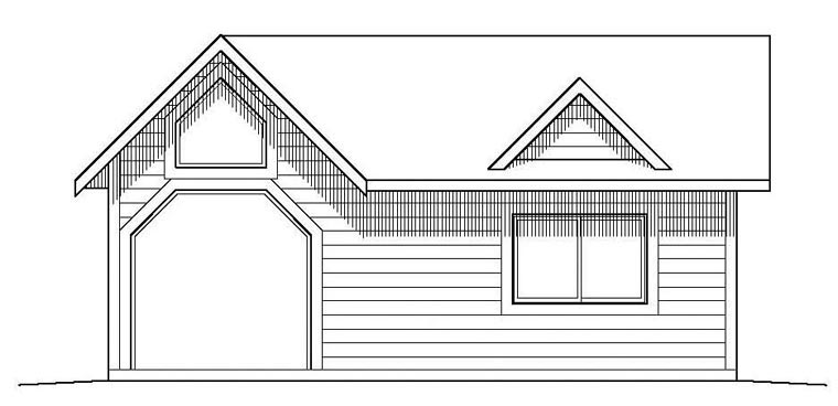 1 Car Garage Plan 99948 Elevation