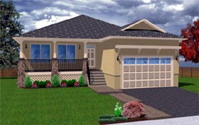 Traditional House Plan 99950 with 3 Beds, 2 Baths, 2 Car Garage Elevation