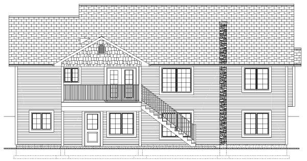 Traditional House Plan 99951 Rear Elevation