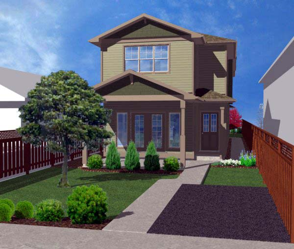 Multi-Family Plan 99952 Elevation