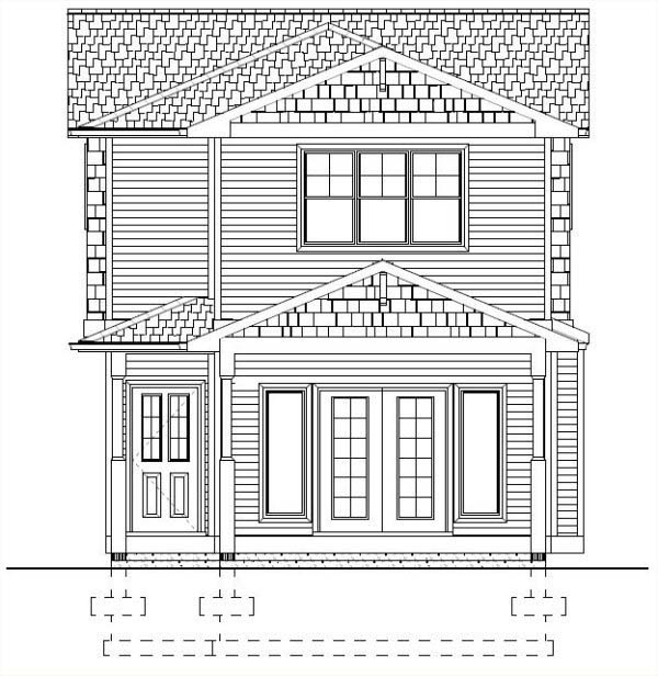 Multi-Family Plan 99952 Rear Elevation