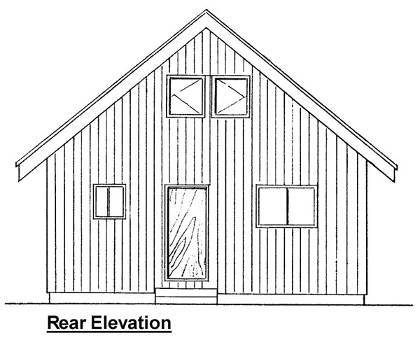 Cabin Contemporary House Plan 99953 Rear Elevation