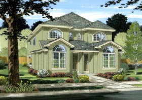 Multi-Family Plan 99954 Elevation