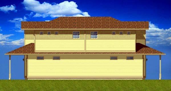Multi-Family Plan 99956 Rear Elevation