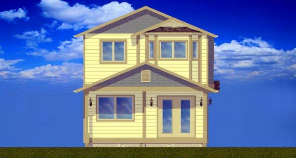 Multi-Family Plan 99957 Rear Elevation