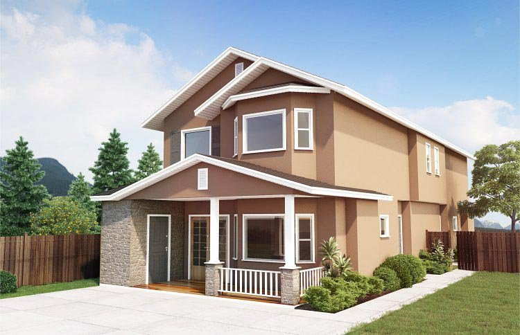 Multi-Family Plan 99958 with 6 Beds, 4 Baths Front Elevation