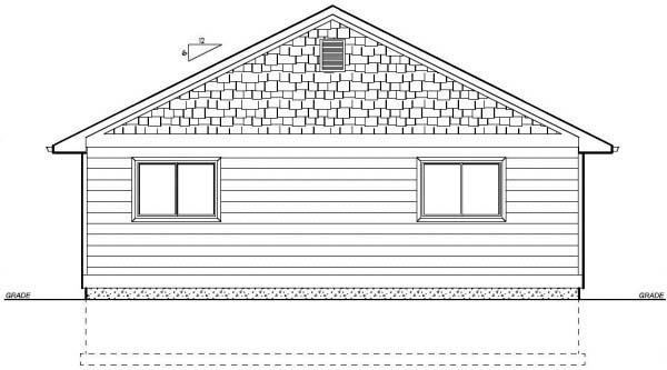 Country Ranch Rear Elevation of Plan 99960